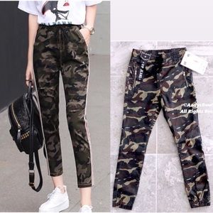 NWT VIP CAMOUFLAGE PRINT LACE-UP JOGGERS SIZE 32